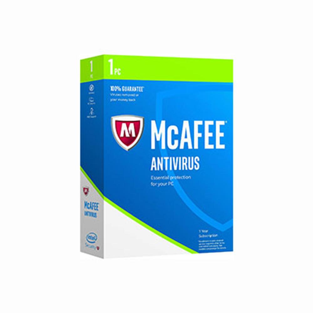 McAfee Antivirus 2017 1 PC 1 year